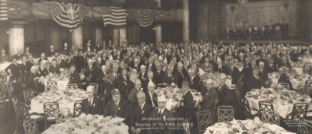 Veterans of 314th Infantry World War One, A.E.F. Annual Reunion September 23-25, 1921, Philadelphia Pennsylvania