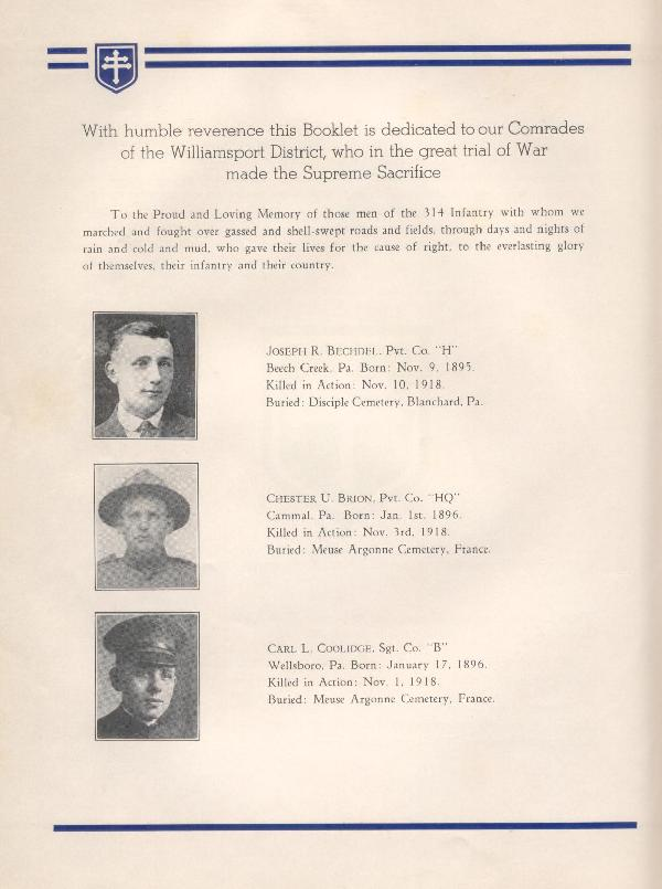 314th Infantry Regiment A.E.F. - Nineteenth Annual Reunion - 1937 - Page 8