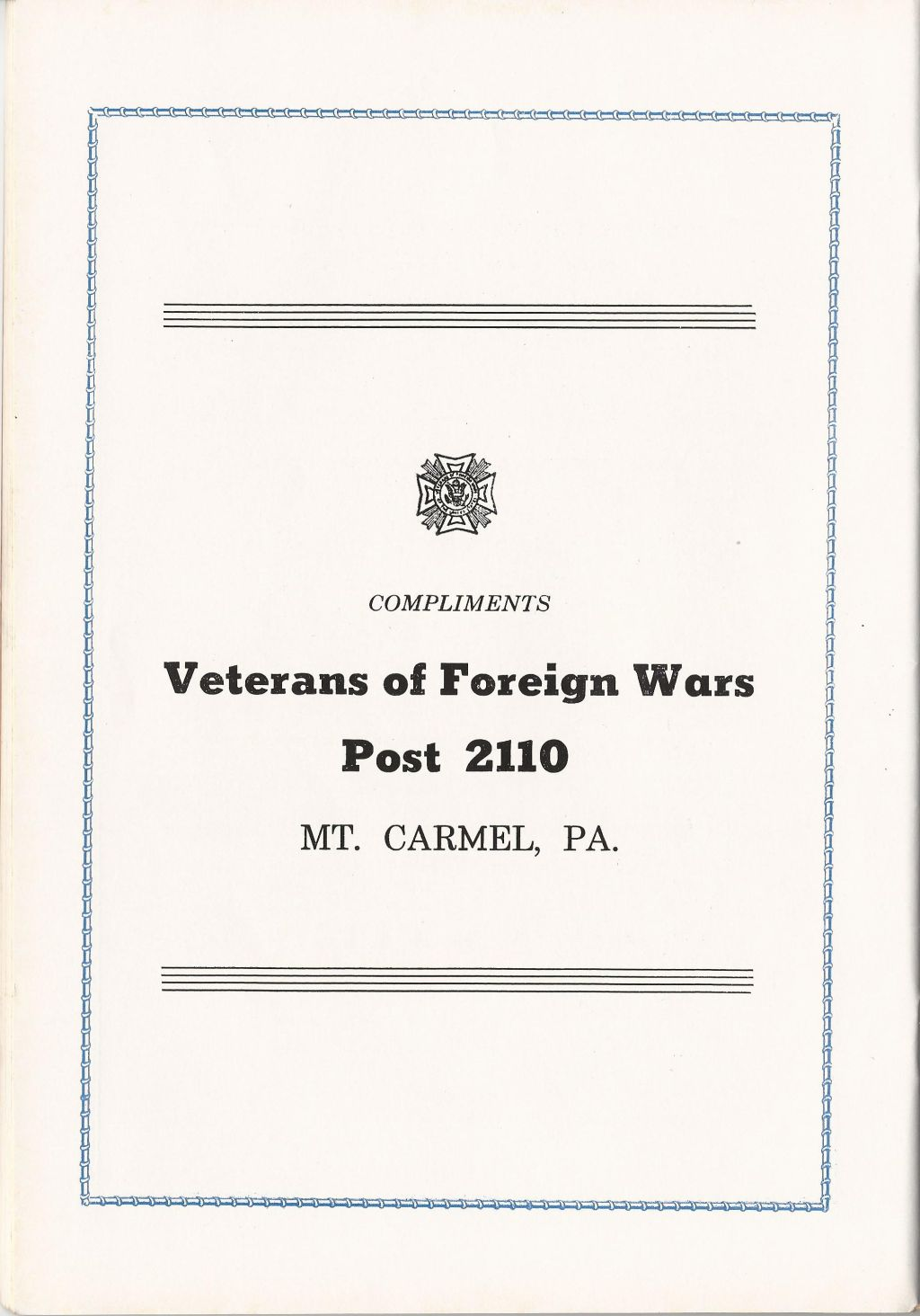 Veterans 314th Infantry Regiment A.E.F. - 1943 Reunion Booklet - 34