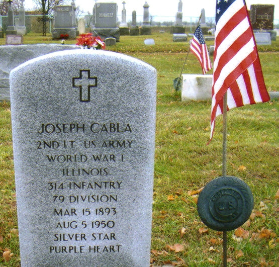 Joseph Cabla - Veteran 314th Infantry Regiment A.E.F.