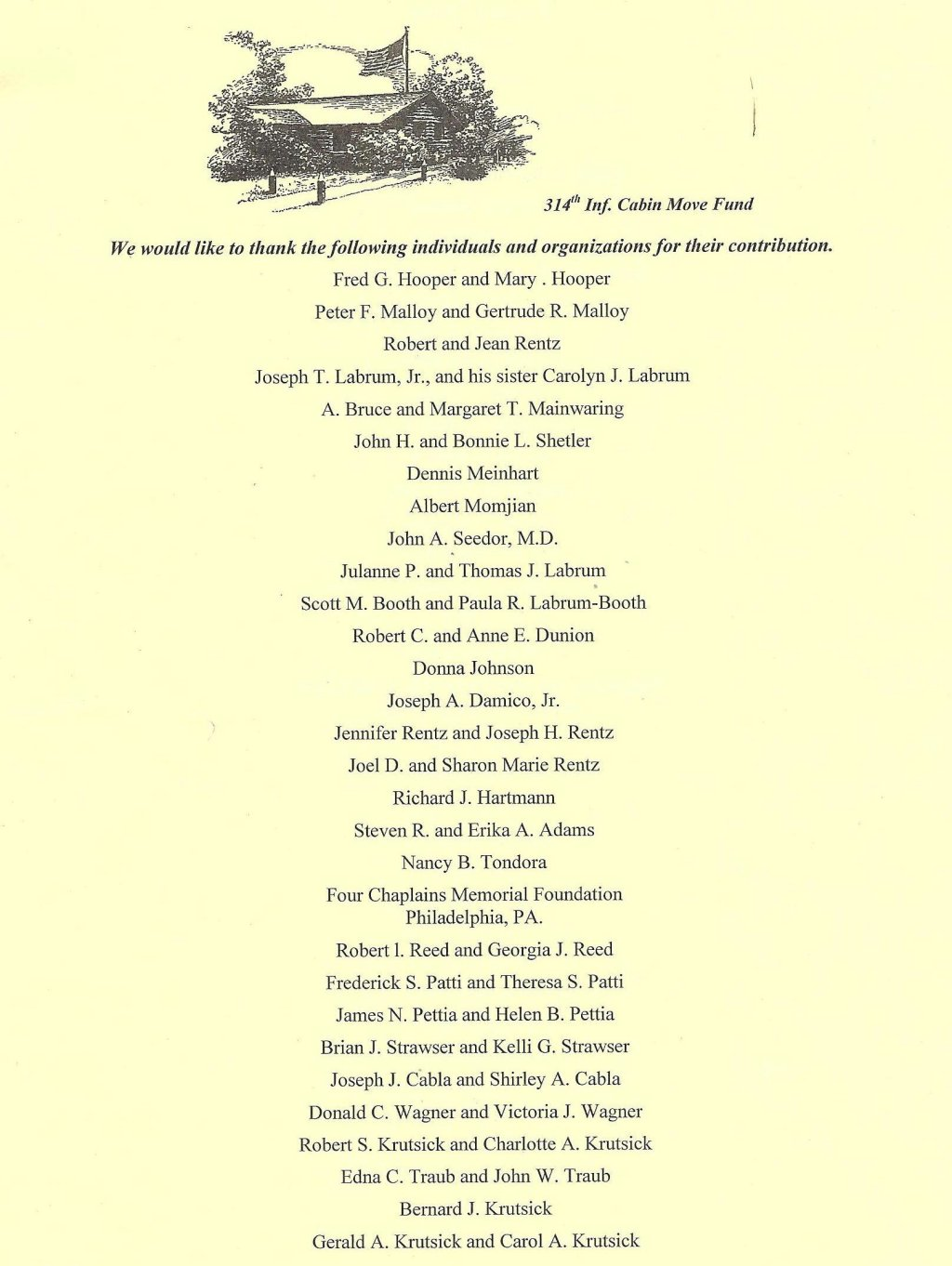 314th Infantry - 2013 Memorial Day Program - Insert Page 1