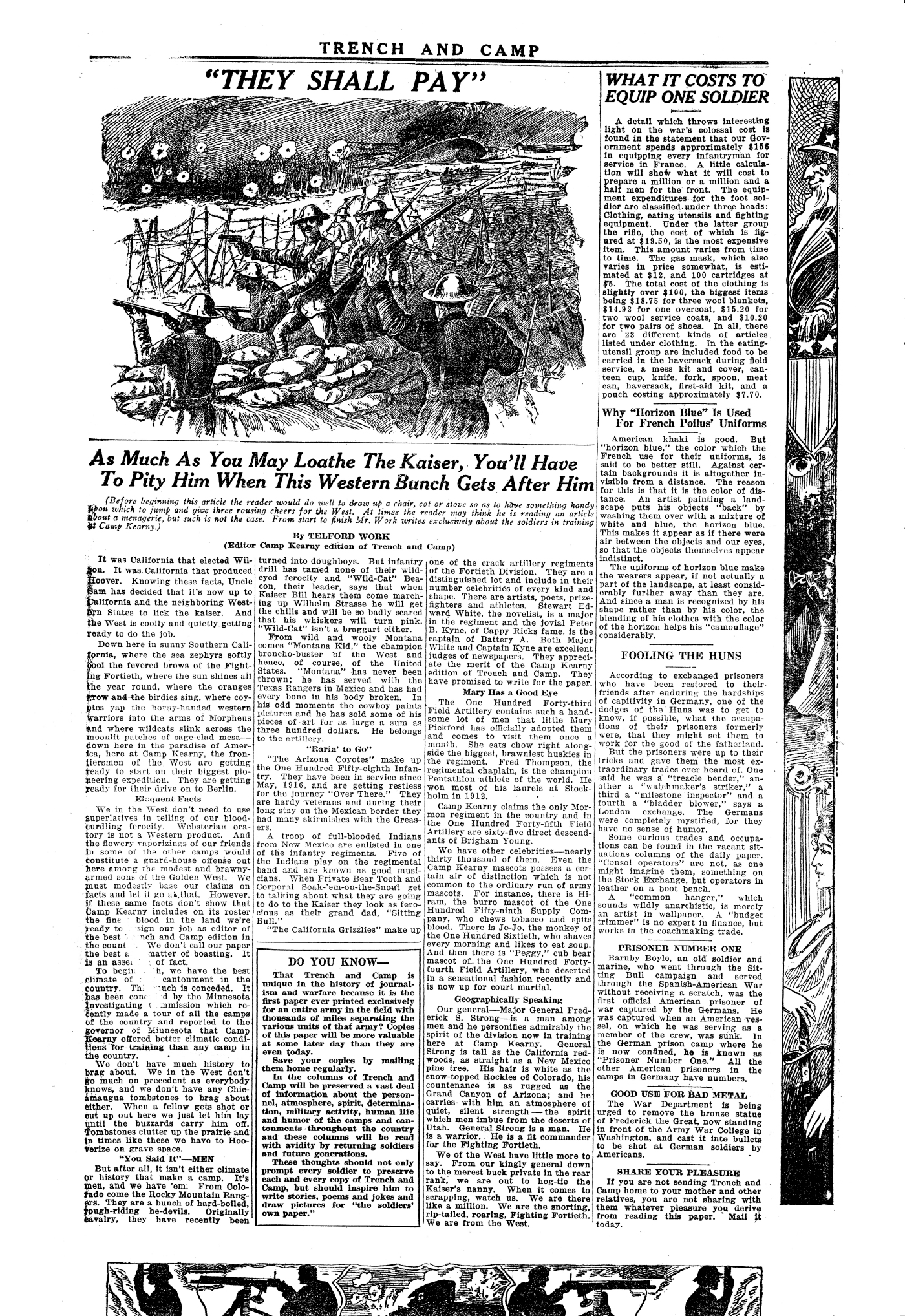 Trench and Camp Newspaper March 7 1918 Page 3