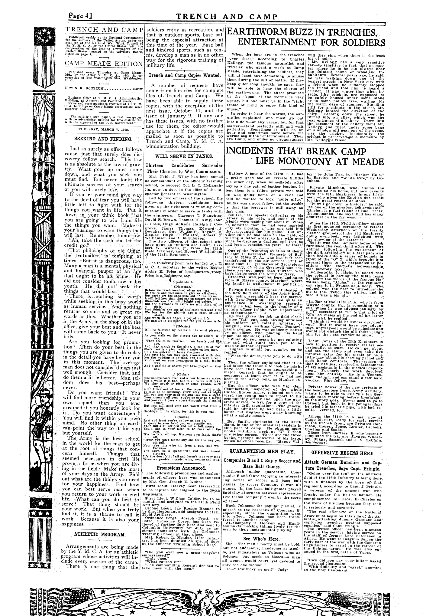 Trench and Camp Newspaper March 7 1918 Page 4