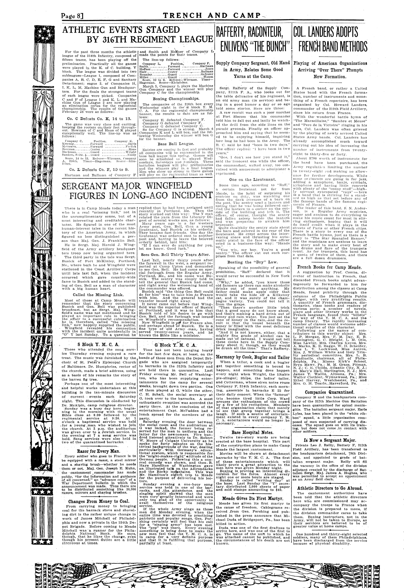 Trench and Camp Newspaper March 7 1918 Page 8