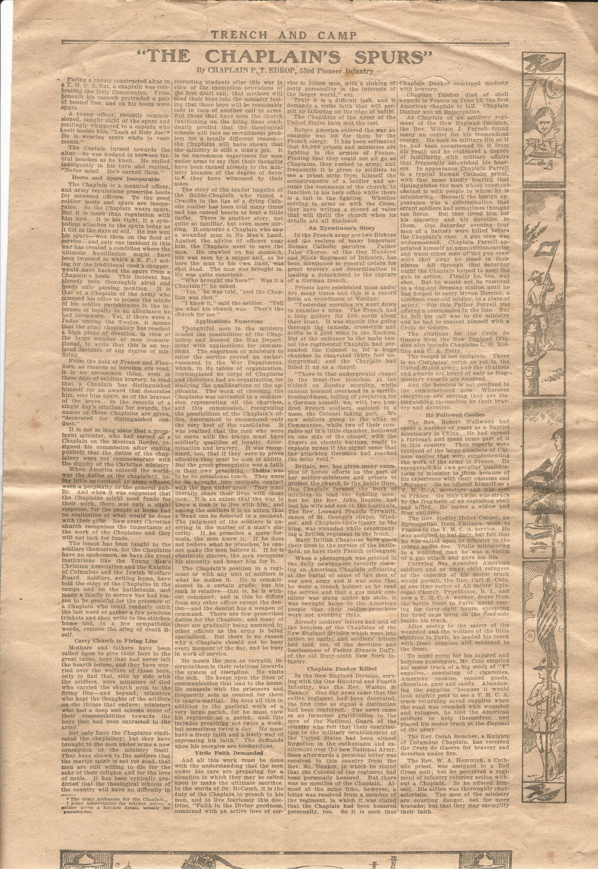 Trench and Camp Newspaper July 14 1918 Page 3