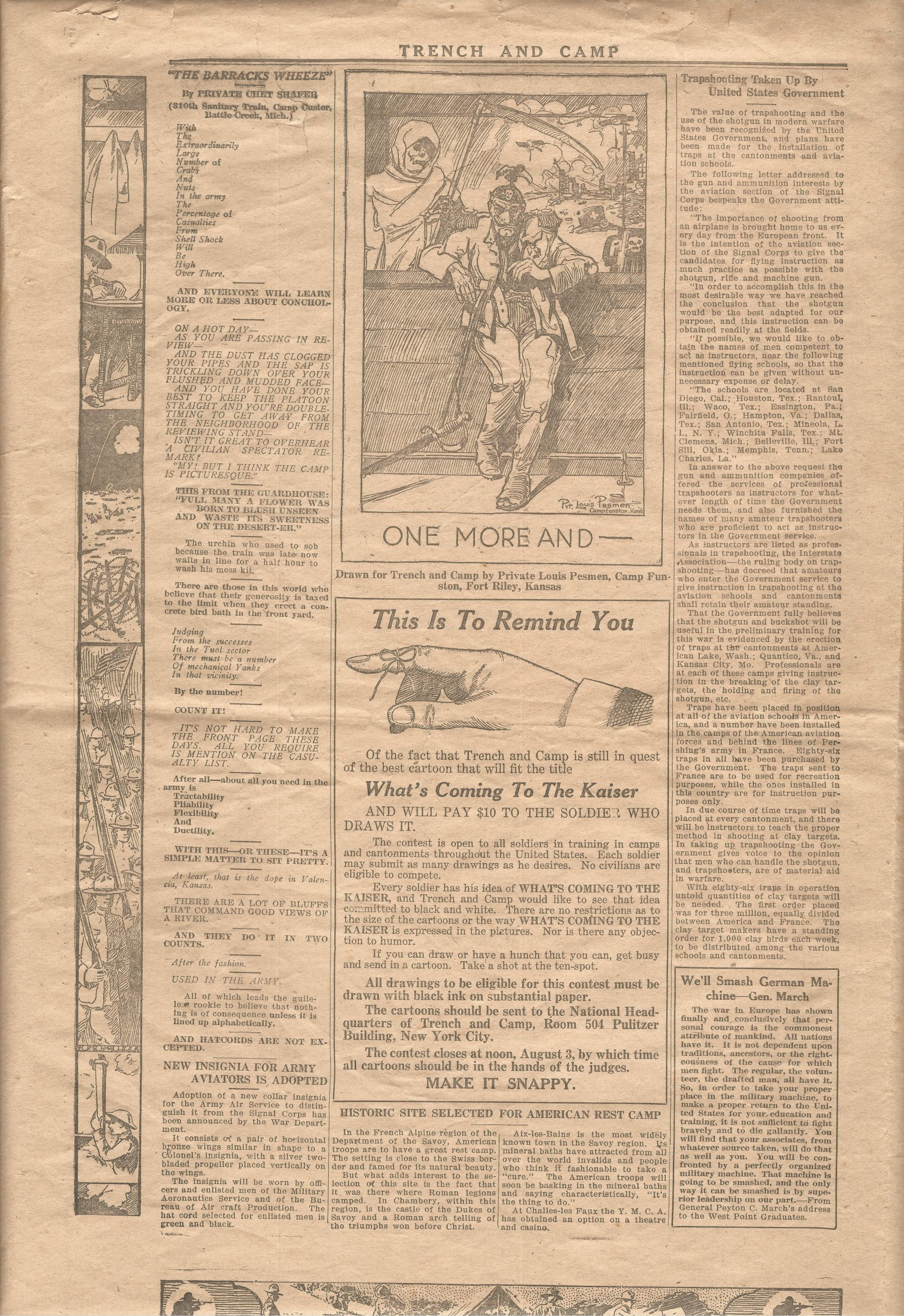 Trench and Camp Newspaper July 14 1918 Page 6