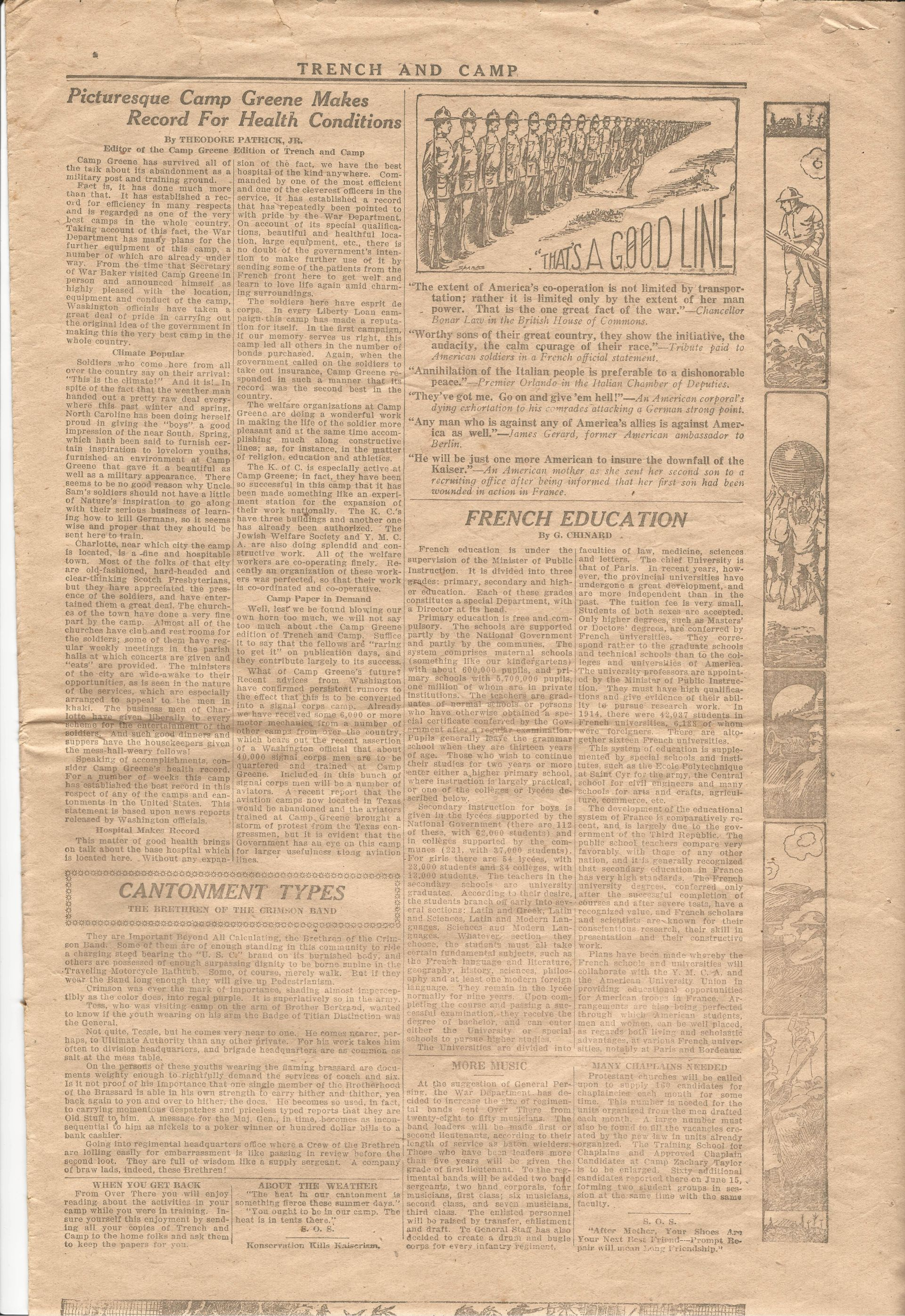Trench and Camp Newspaper July 14 1918 Page 7
