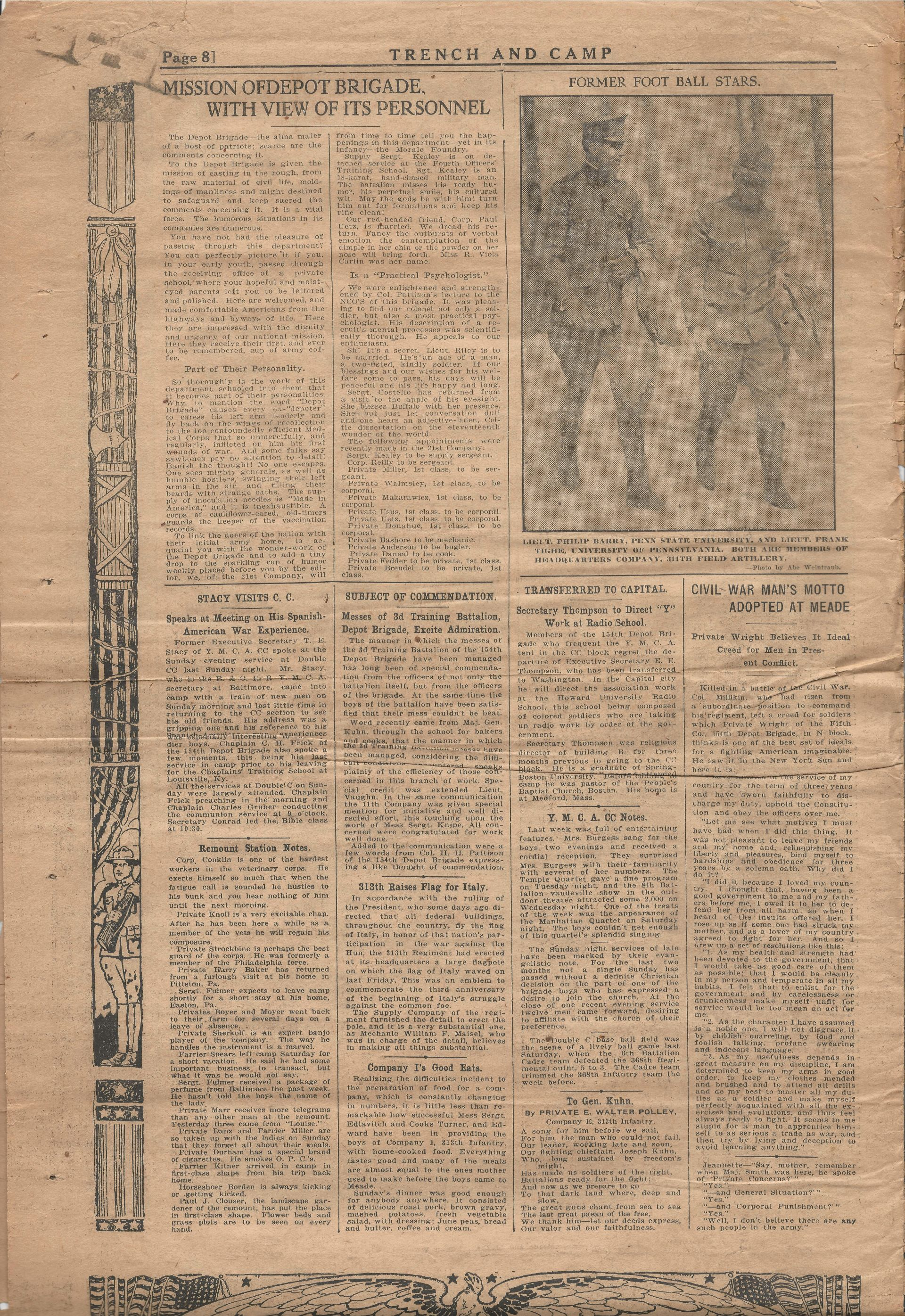 Trench and Camp Newspaper May 30 1918 Page 8