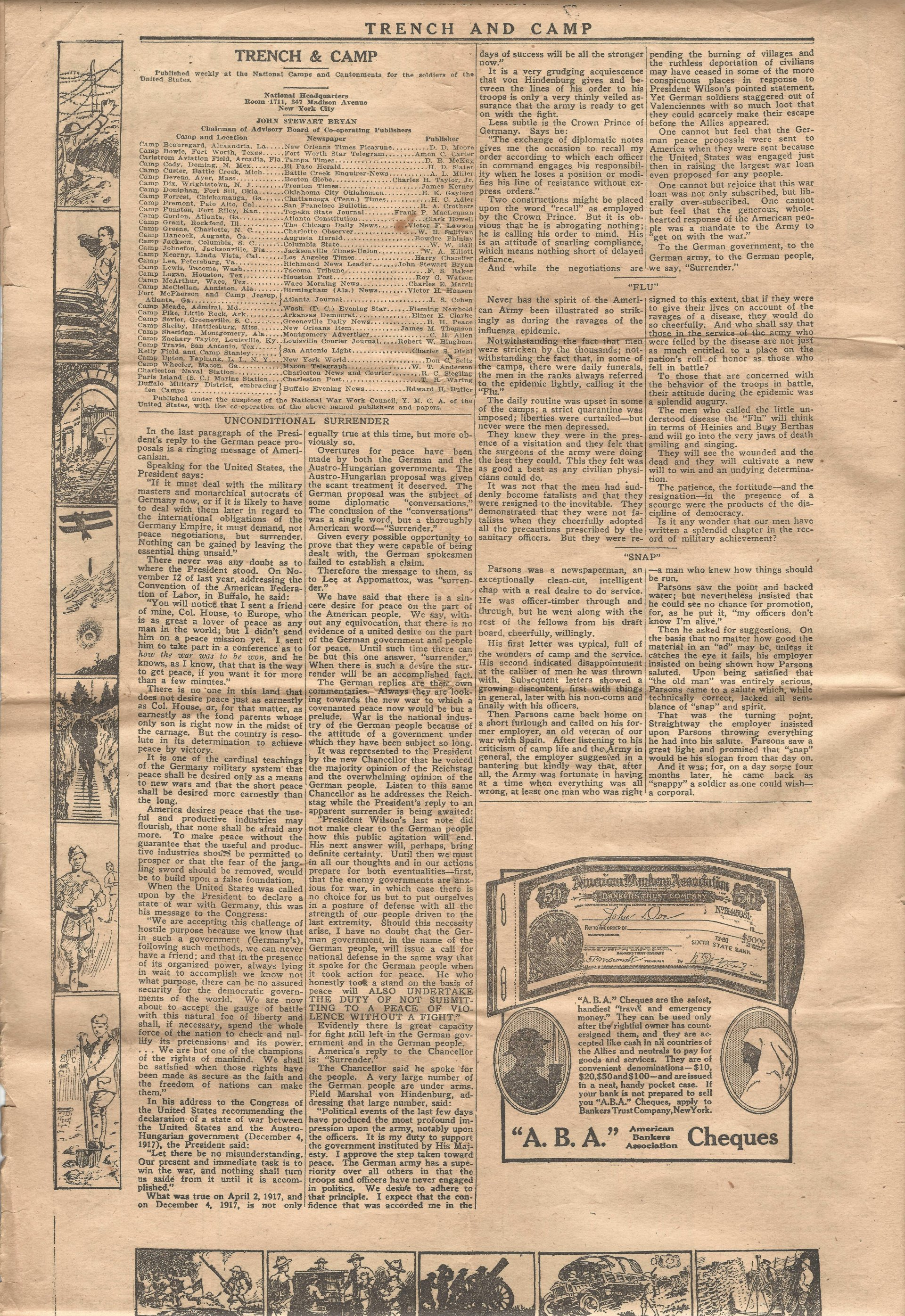 Trench and Camp Newspaper November 14 1918 Page 2