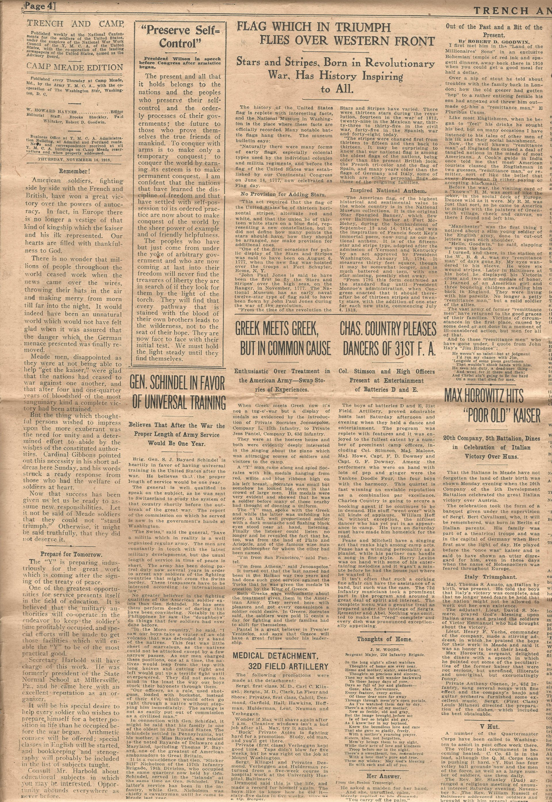Trench and Camp Newspaper November 14 1918 Page 4