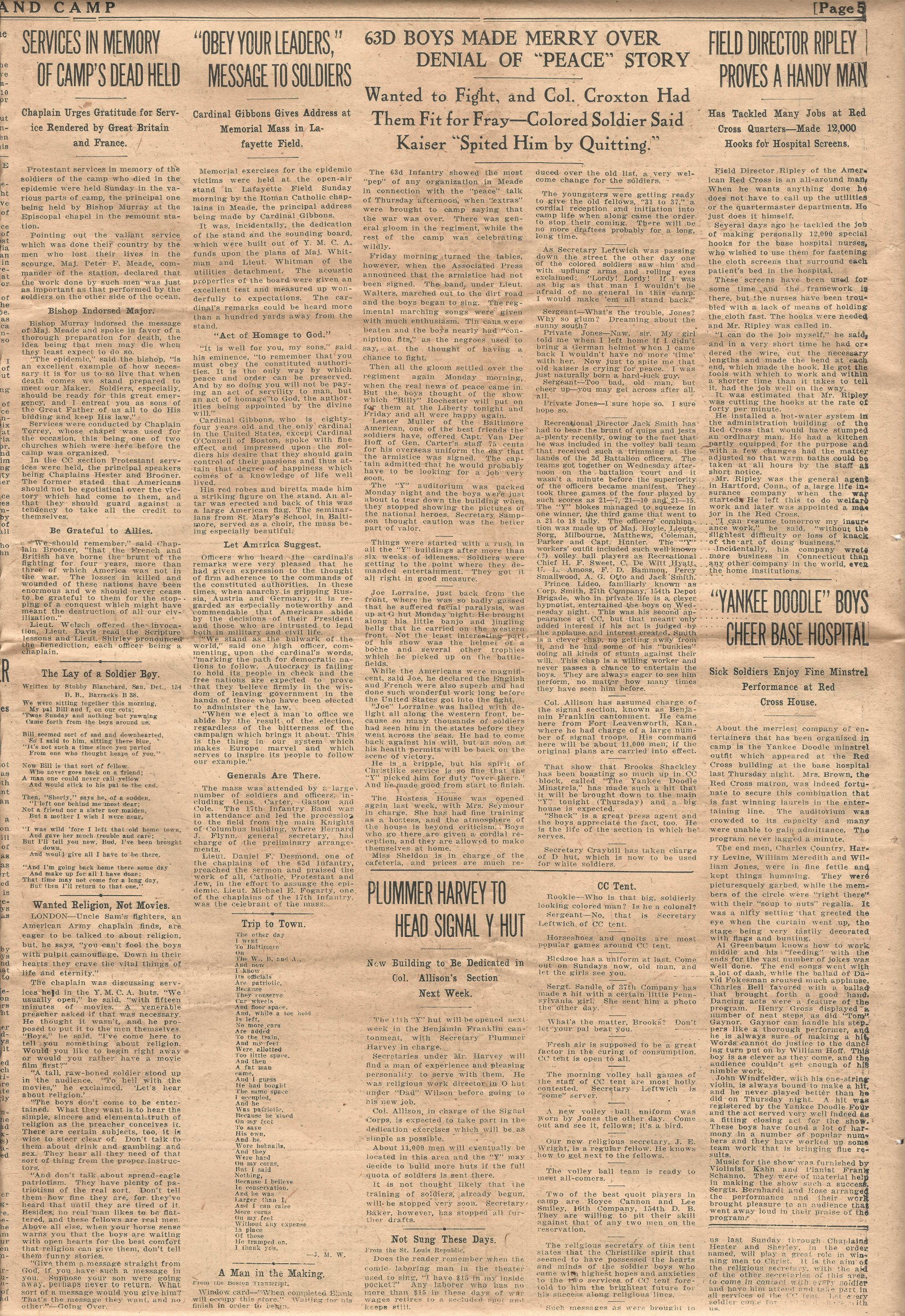 Trench and Camp Newspaper November 14 1918 Page 5