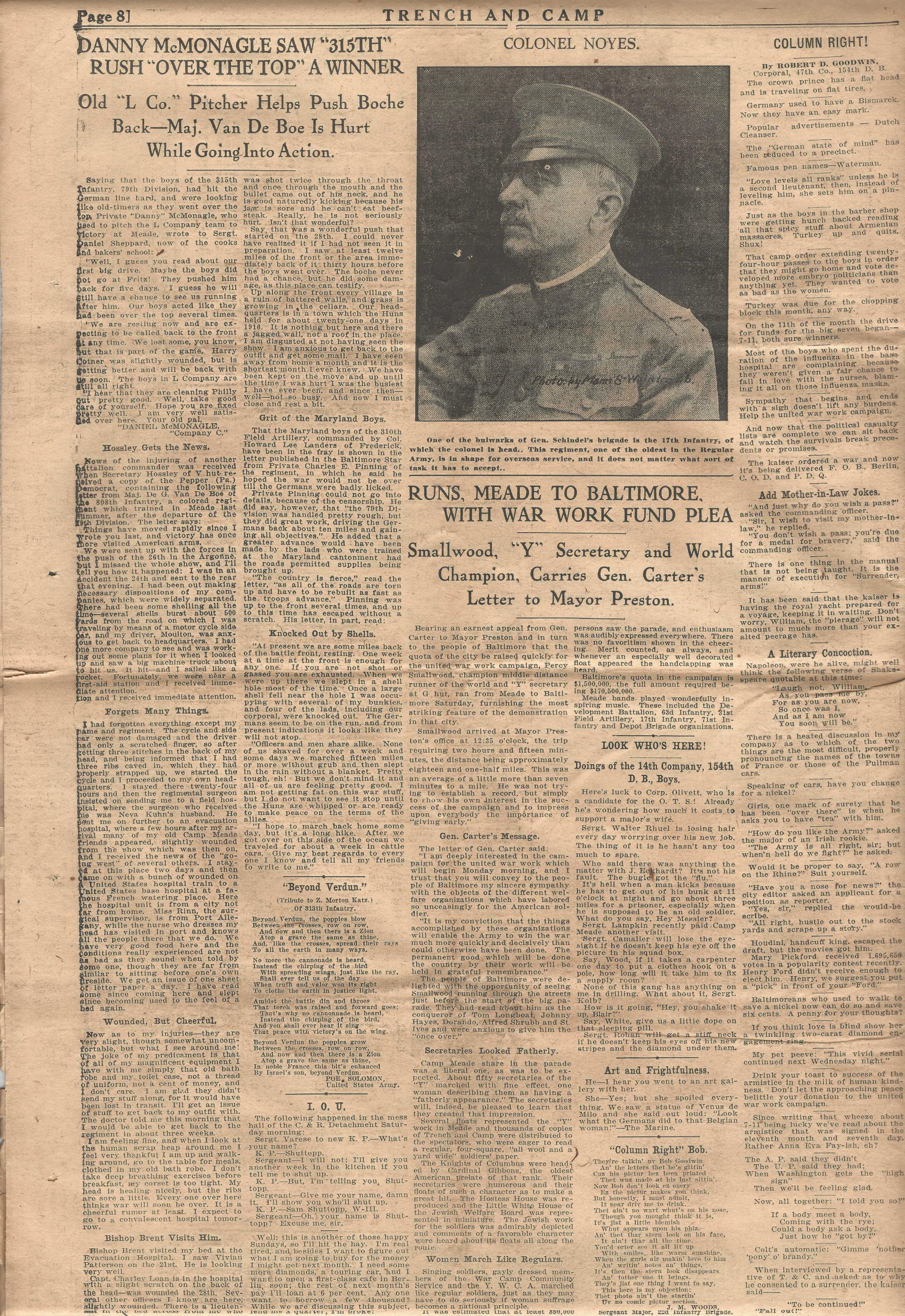 Trench and Camp Newspaper November 14 1918 Page 8