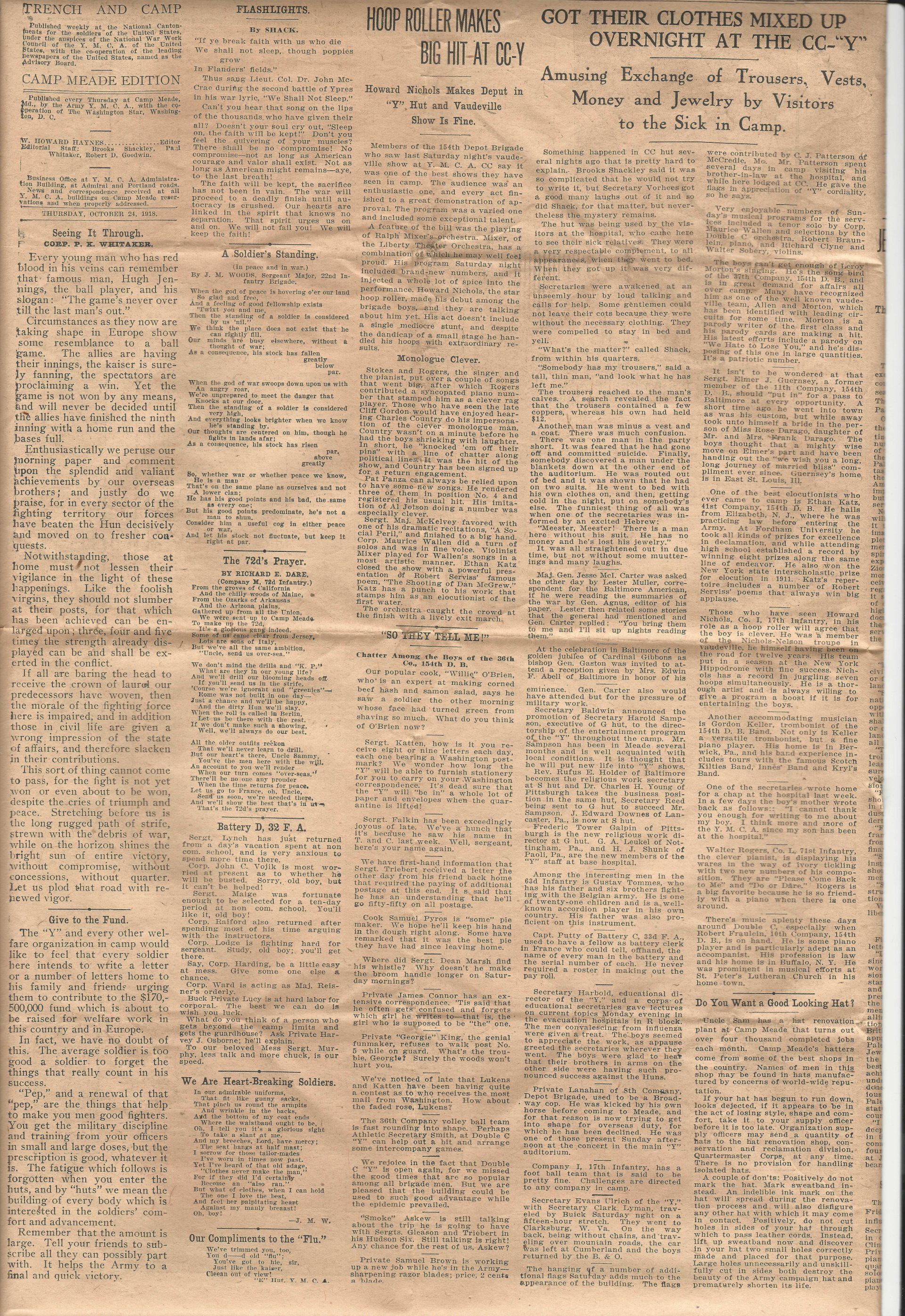 Trench and Camp Newspaper October 24 1918 Page 4