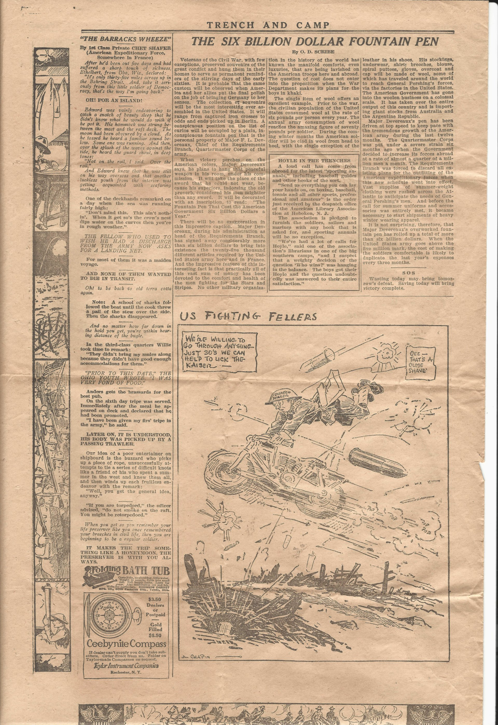 Trench and Camp Newspaper October 24 1918 Page 6