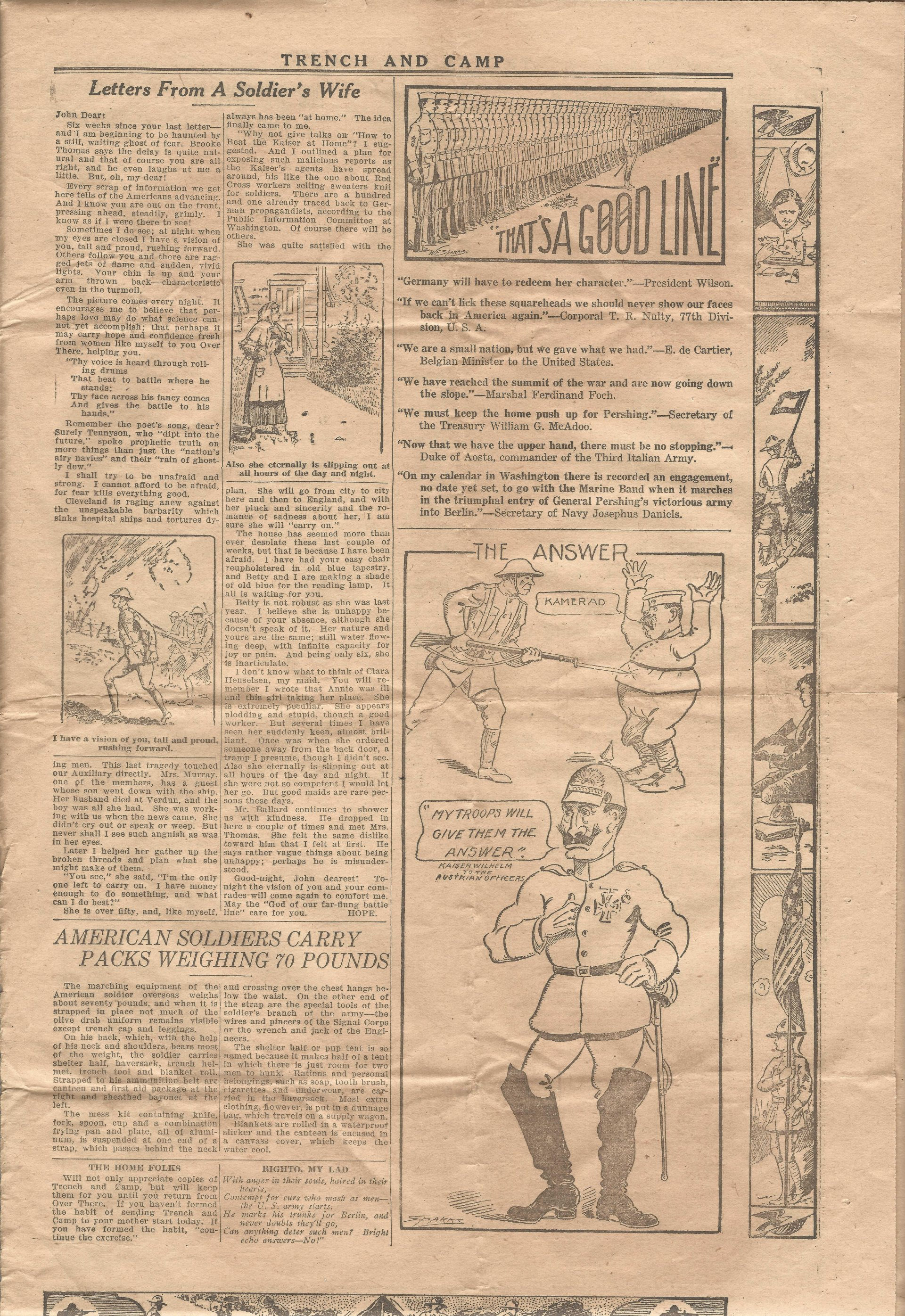 Trench and Camp Newspaper October 24 1918 Page 7