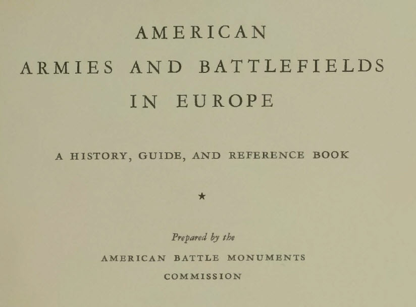 Book - American Armies and Battlefields in Europe - 1938 - 590 page PDF - cover page 1