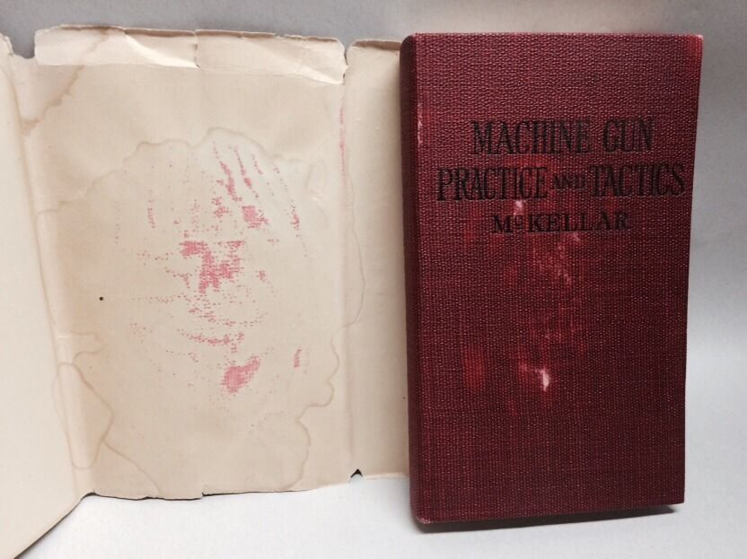 Machine Gun Practice and Tactics for Officers, N. C. O's and Men by Lieut. K. B. McKellar -- Owned by Sgt James Bishop - scan 2