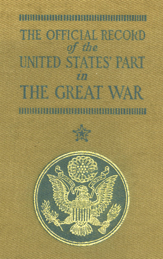 Official Record of the United States part in the Great War - Cover