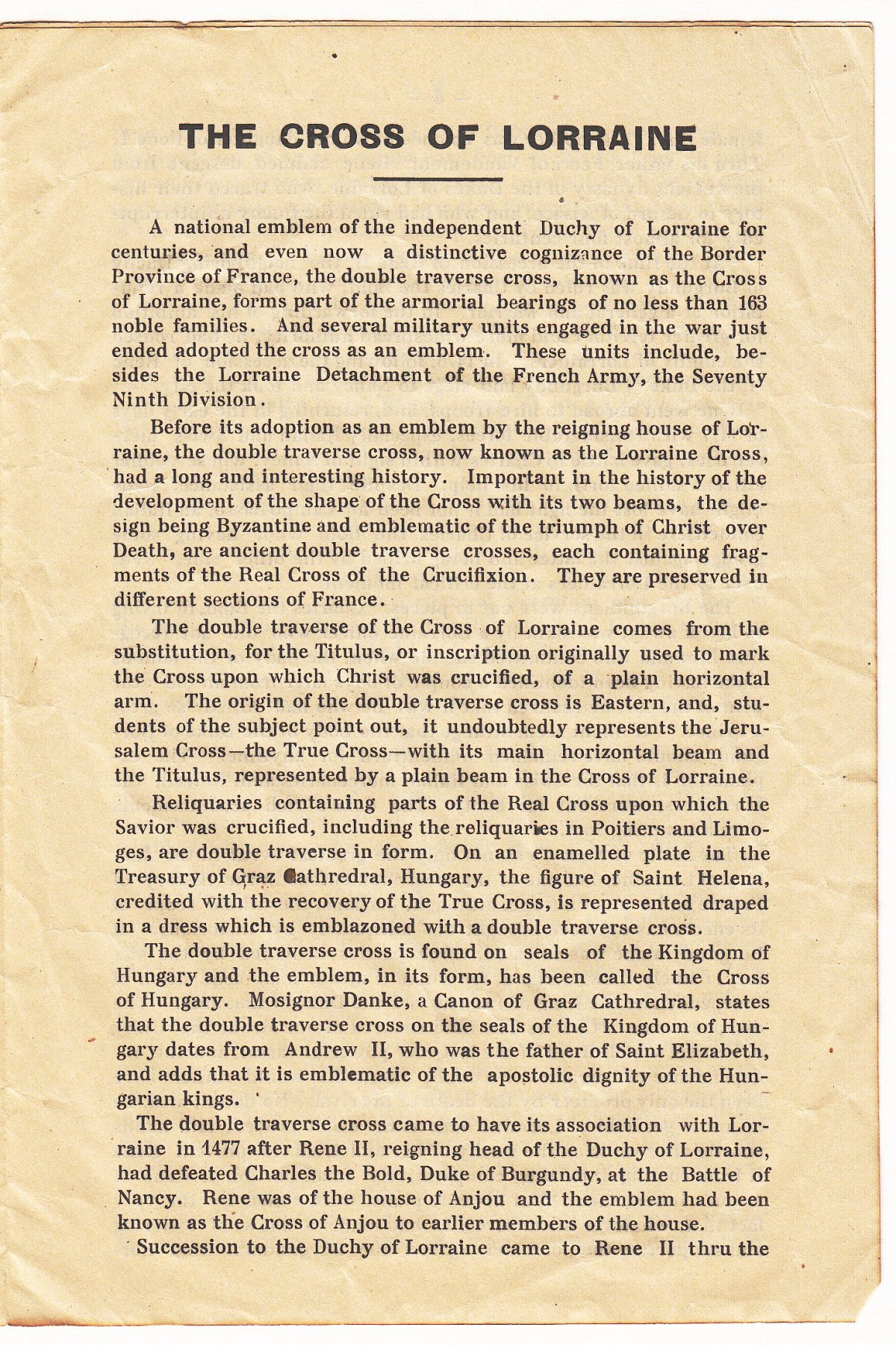 The Lorraine Cross Story of the 79th Division Insignia - Page 3