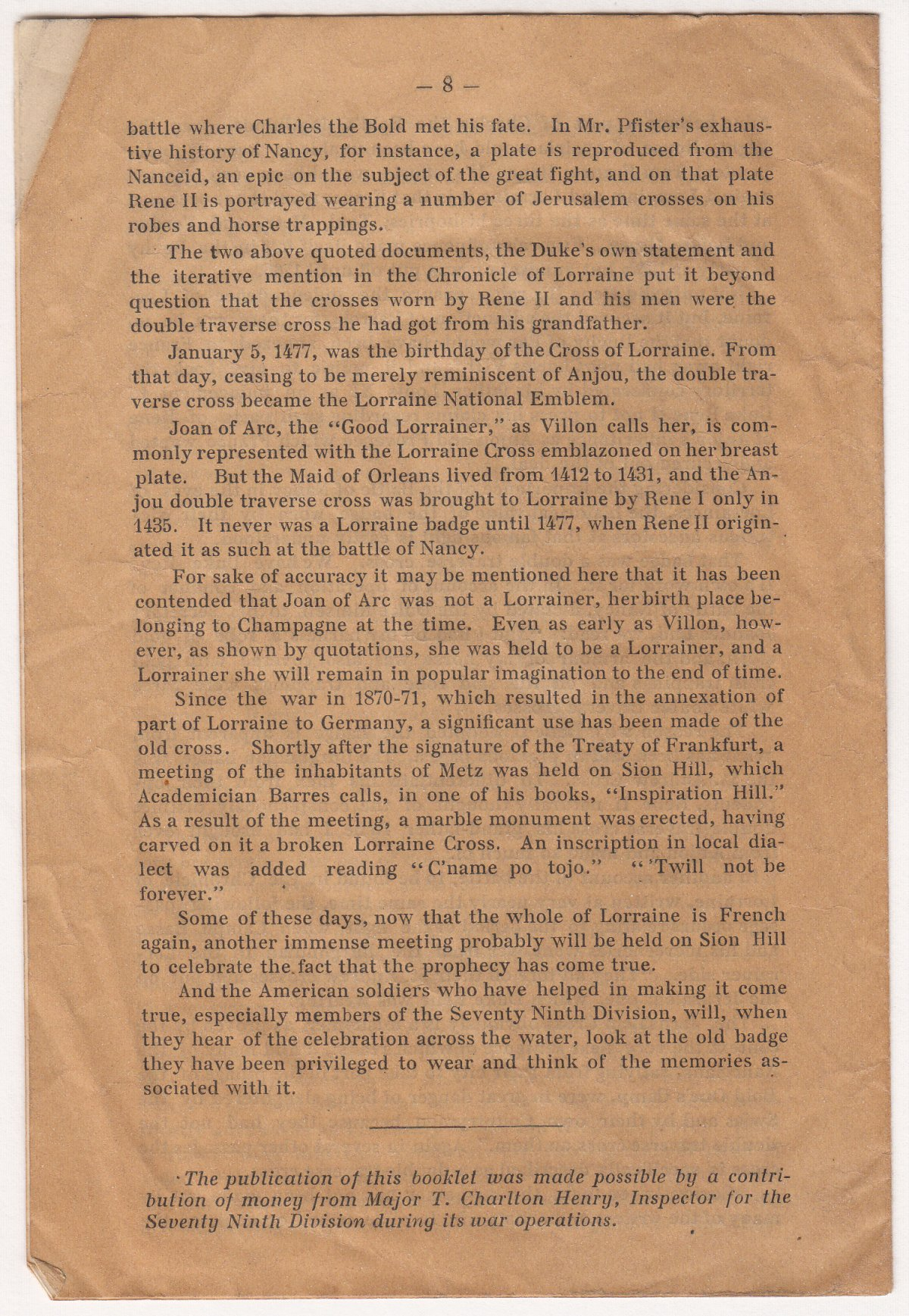 The Lorraine Cross Story of the 79th Division Insignia - Page 6