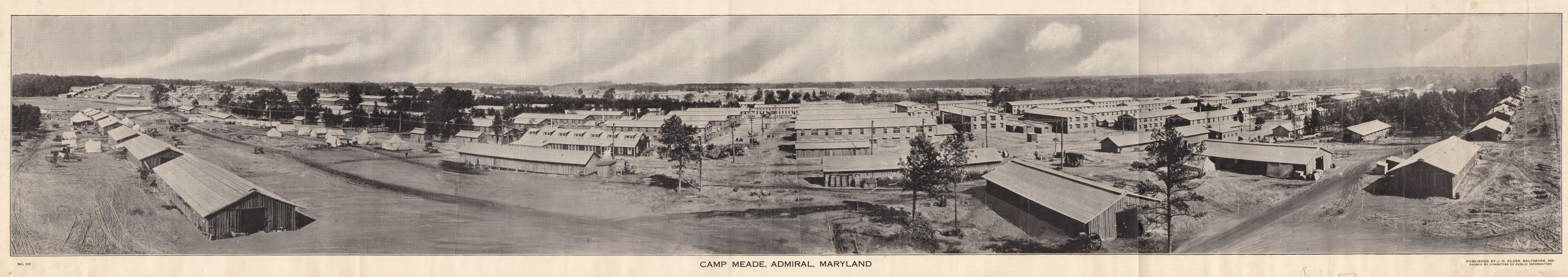 Panoramic Views of Camp Meade 1918 published by Klass