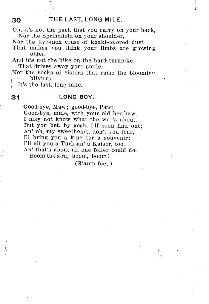 Cheery Songs for Cheerful Men - Compiled by F. F. Leonard - Director of Social Work, Y. M. C. A. Camp Meade - Page 11