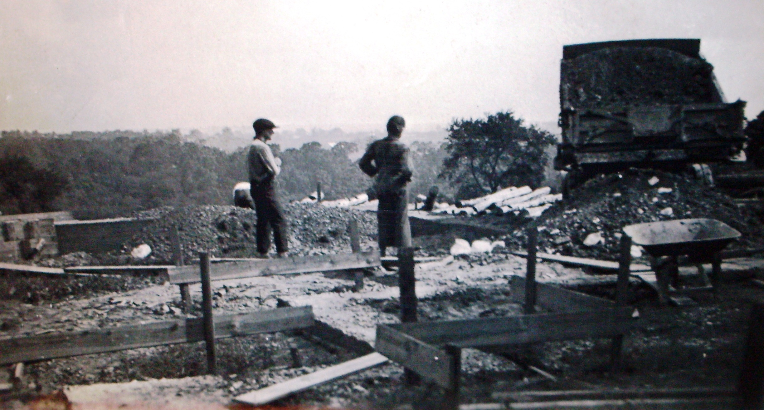 314th Infantry Memorial Log Cabin - Being re-erected at Valley Forge 1922 - Cabin Foundation Work
