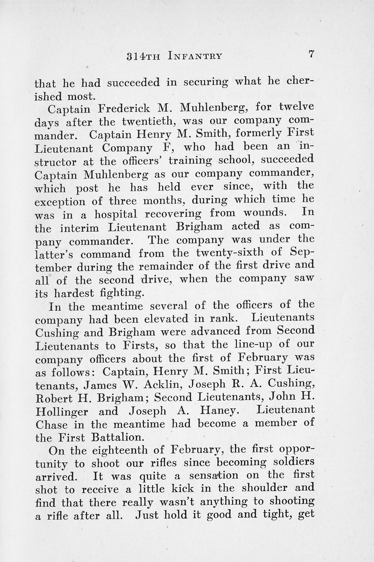 History of Company G 314th Infanty - Page 007