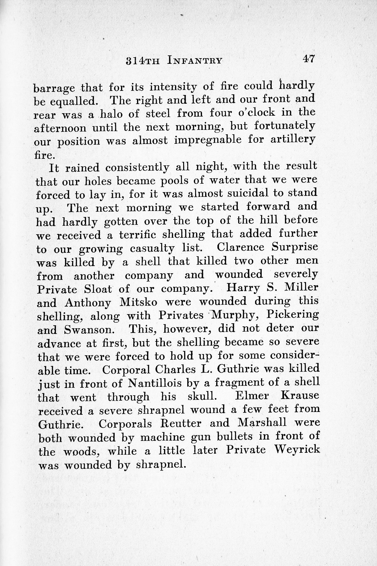 History of Company G 314th Infanty - Page 047