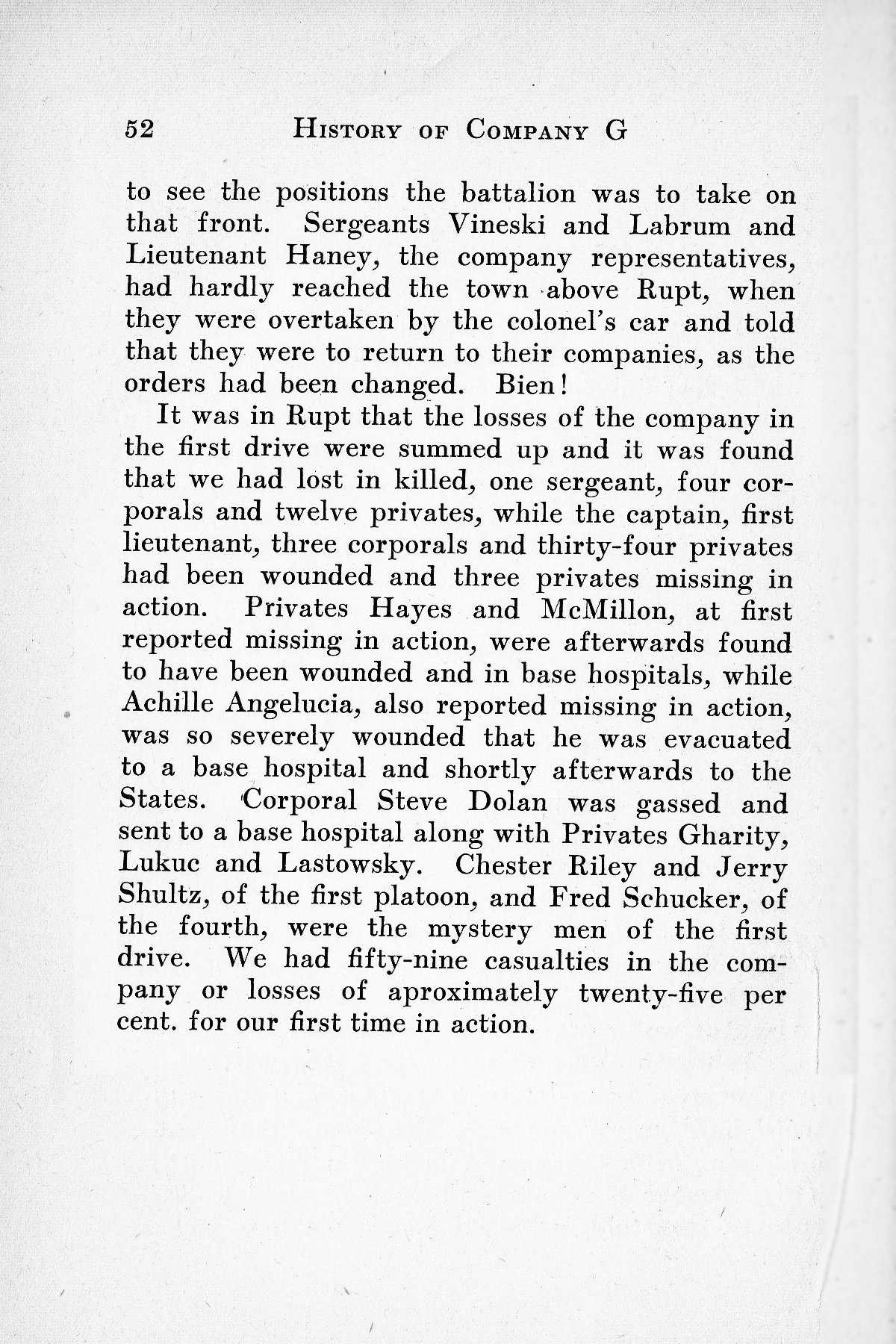 History of Company G 314th Infanty - Page 052