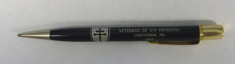 314th Infantry Regiment - Souvenir Mechanical Pencil - Annual Reunion #32 in Lewistown, PA