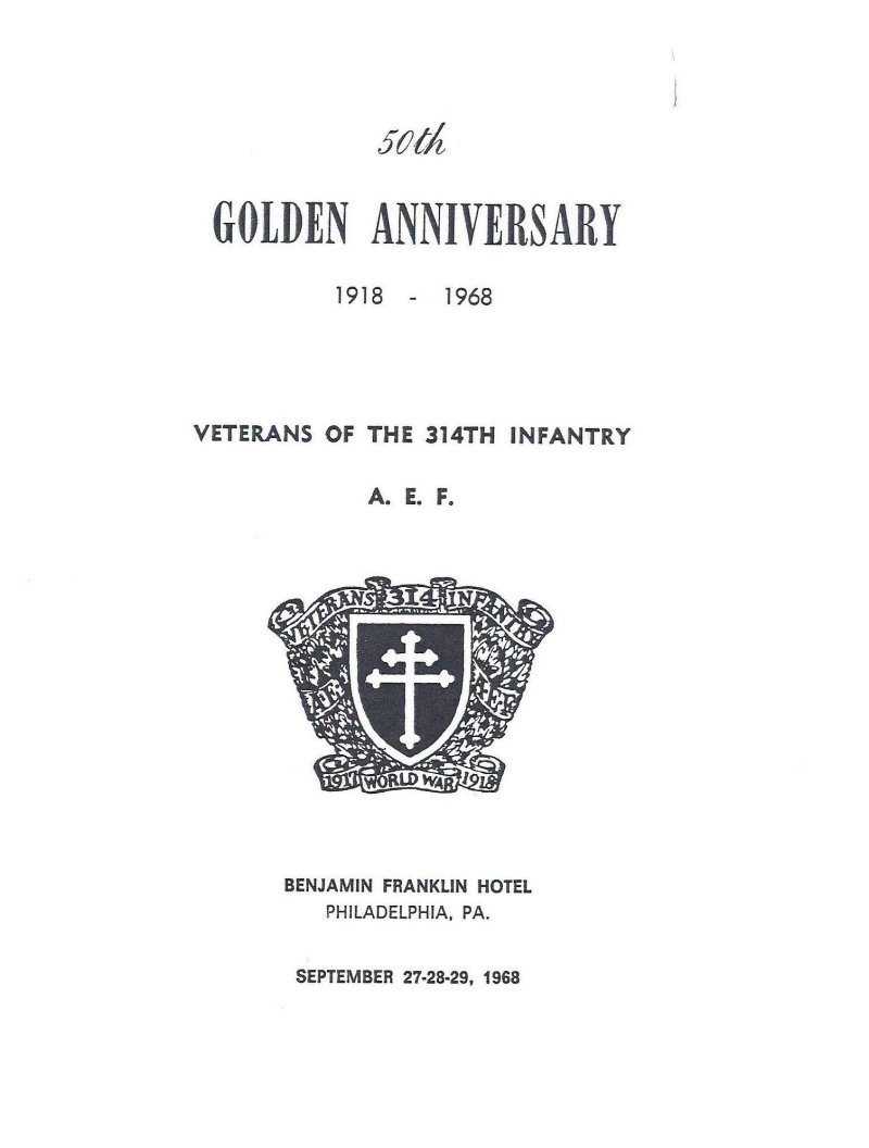 314th Infantry Regiment 1968 50th Reunion Program page 1