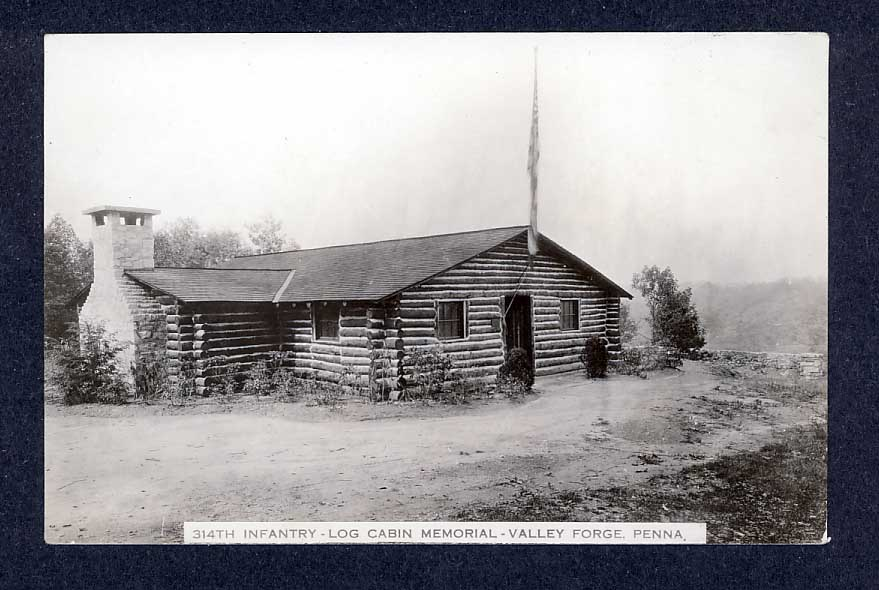 Veterans of the 314th Infantry Regiment AEF - Postcard - Outside of Log Cabin Memorial