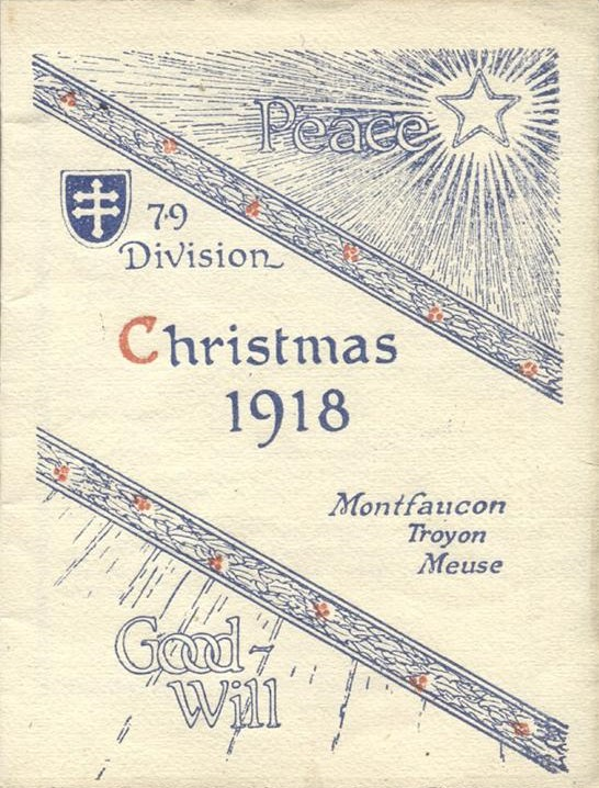314th Infantry Regiment - 79th Division Christmas 1918 Card