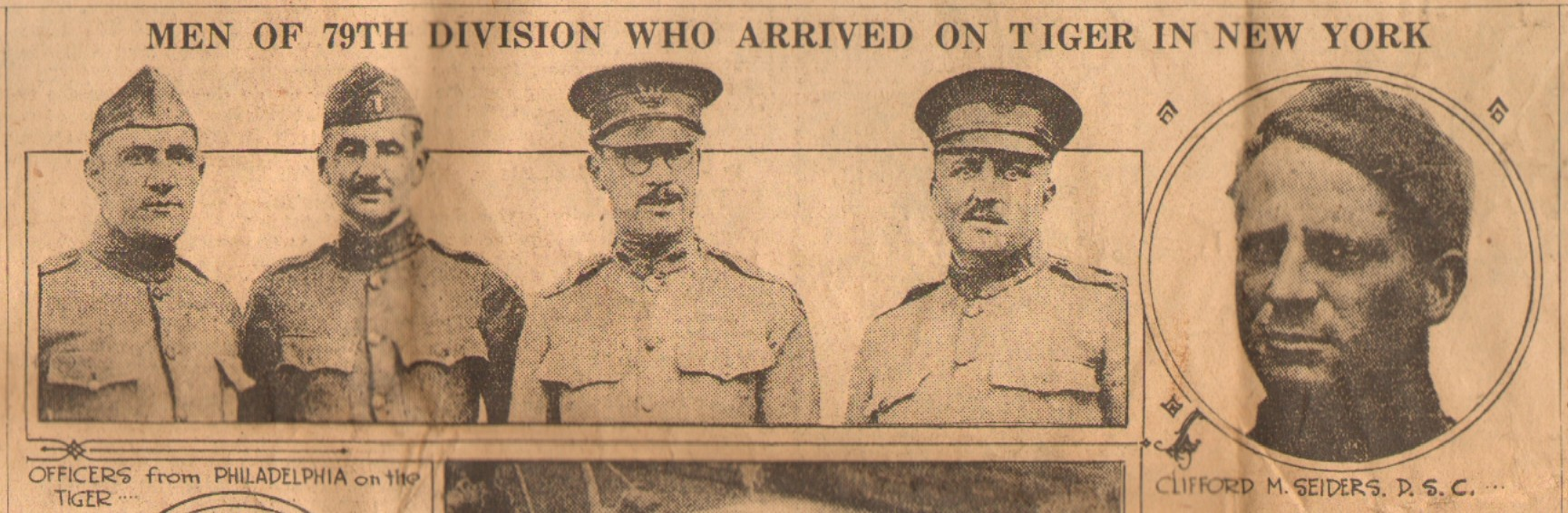 Evening Public Ledger Newspaper - May 27 1919 - Men of the 79th Division who arrived on Tiger in New York