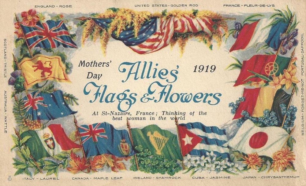 Soldier's Mother's Day Card from France - 1919 - May 11, 1919