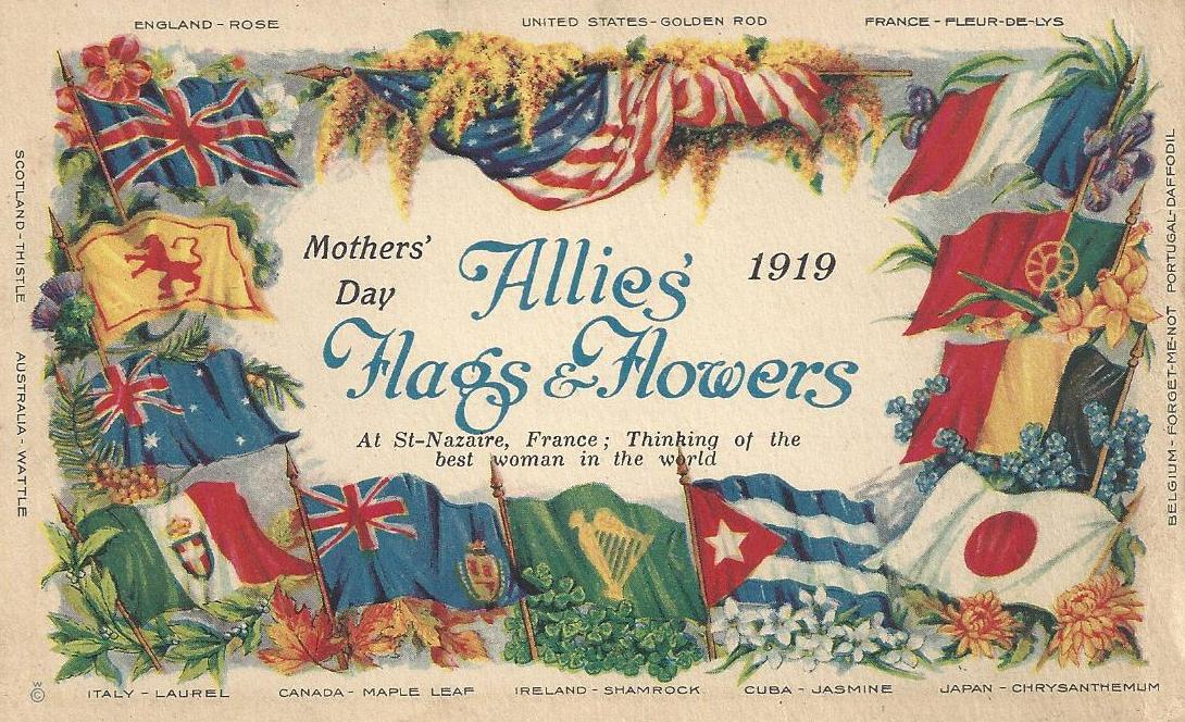 Soldier's Mother's Day Card from France - 1919 - May 11, 1919 - front of postcard