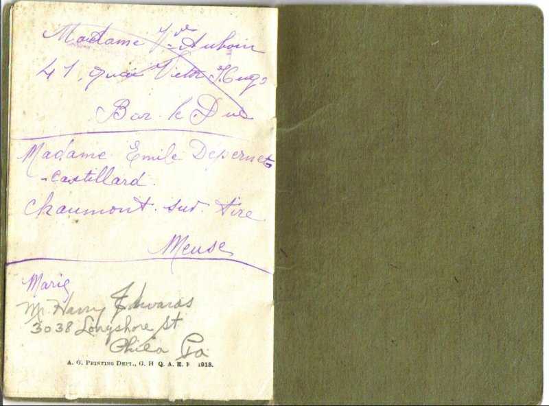 WWI Officers Record Book - First Lieutenant - Chaplain - 5