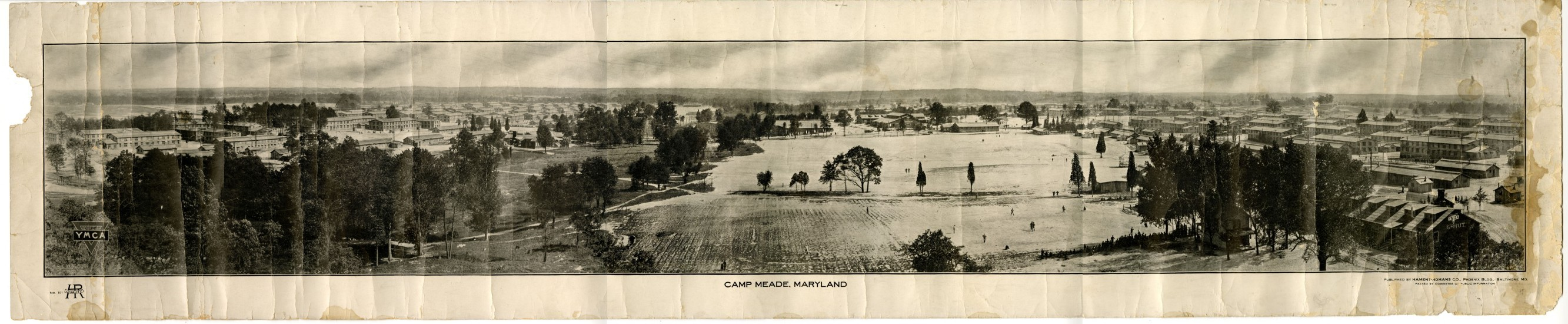 Panoramic Views of Camp Meade 1918 published by YMCA