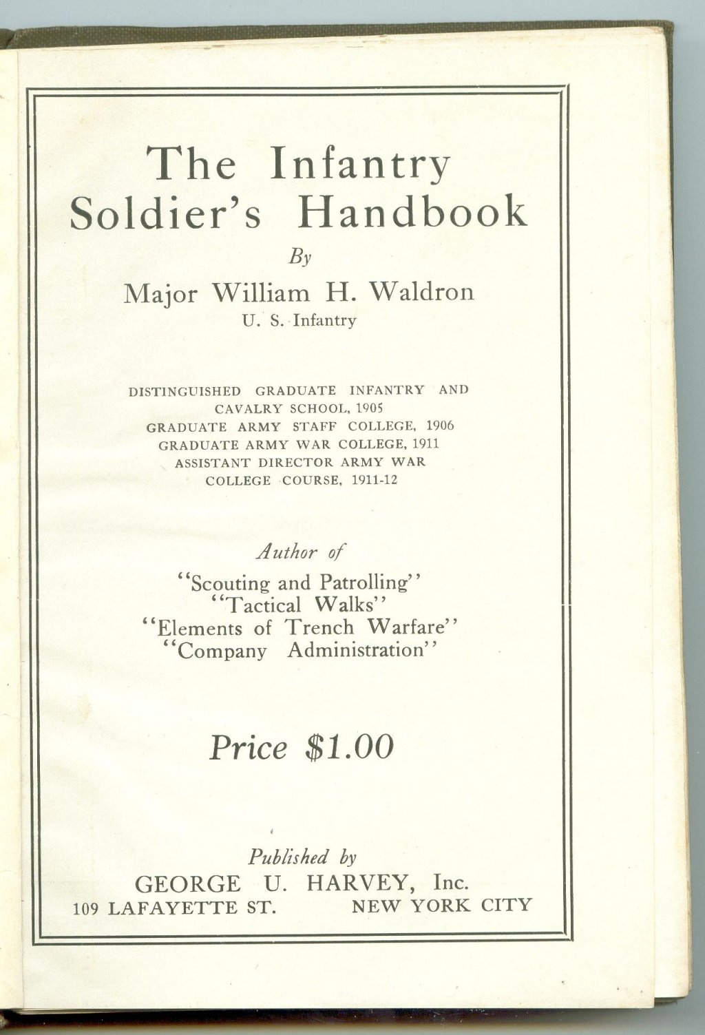 314th Infantry Regiment - Infantry Soldiers Handbook - Waldron - Page 000