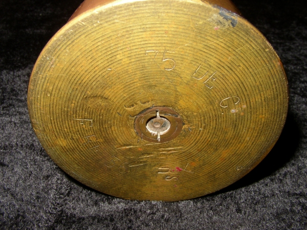 314th Infantry World War I WWI WW1 - Log Cabin Memorial - Montfaucon France - Trench Art Shell 3