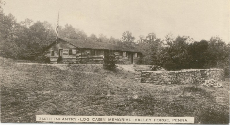 314th Infantry Regiment - 1920's Log Cabin Memorial Postcard