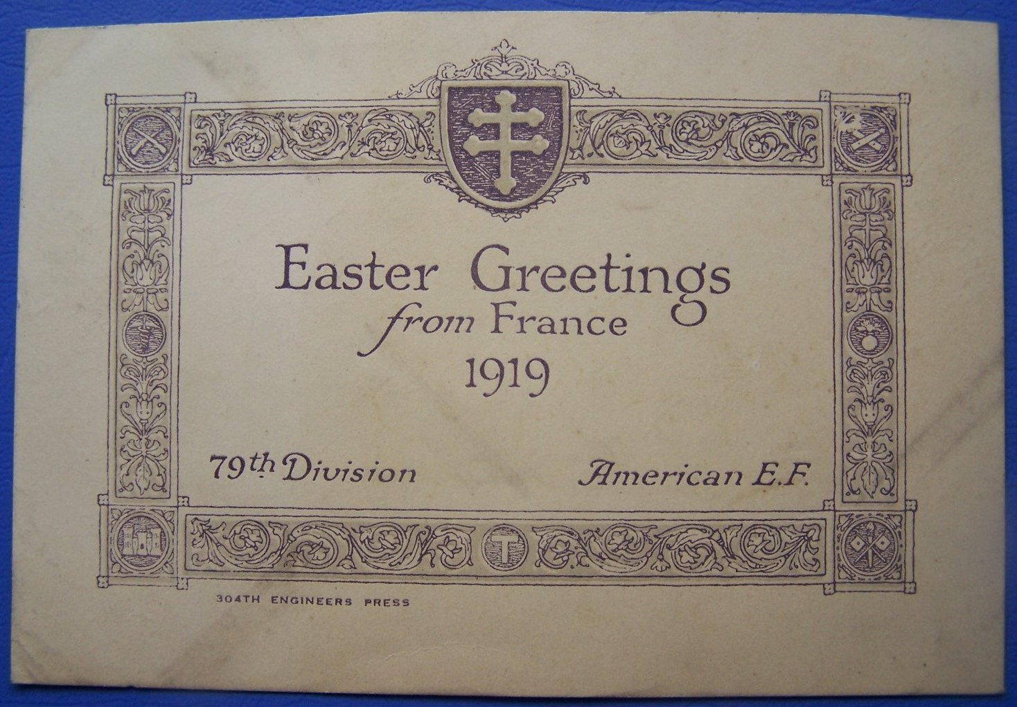 Easter Greetings from France April 1919 - front