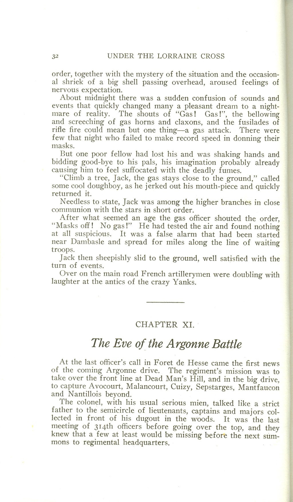 Veterans 314th Infantry Regiment A.E.F. - Under The Lorraine Cross - book by Arthur H. Joel - 1921 - Page 032