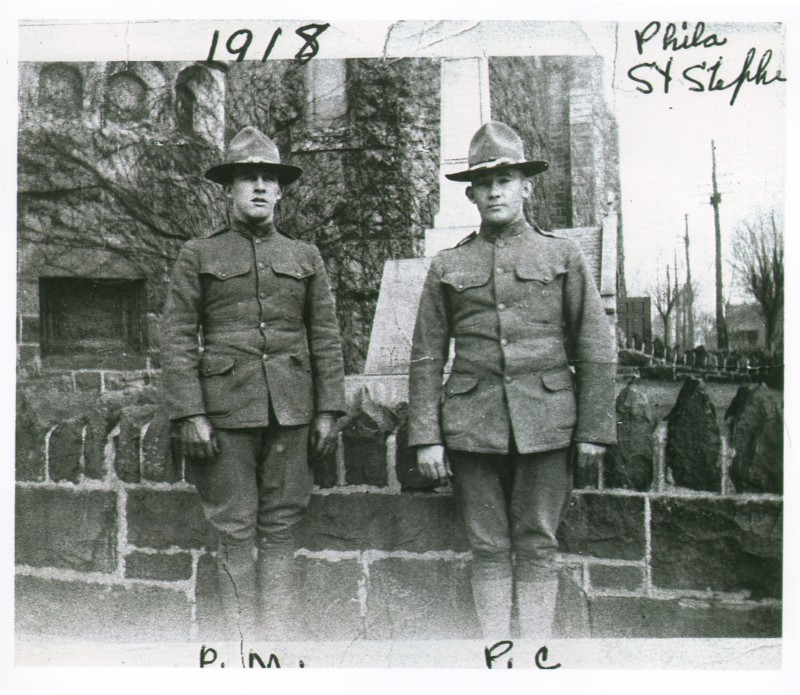 314th Infantry Regiment AEF - Peter F Malloy and Peter F Corcoran early 1918