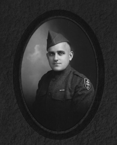 Roy Leslie Sawin Photo in 314th Infantry Regiment Uniform with Lorraine Cross