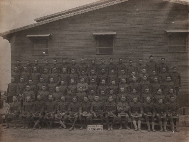 Machine Gun Company MG Co Camp Meade 1917 Veterans 314th Infantry Regiment A.E.F.